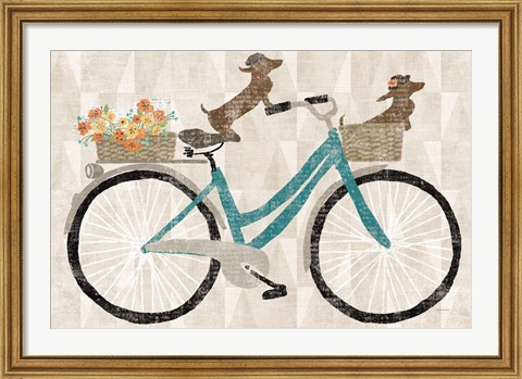Framed Doxie Ride Print