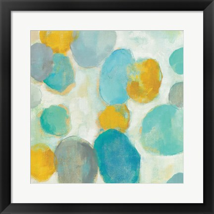 Framed Painted Pebbles III Print
