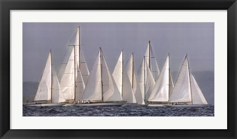 Framed Sailing Team Print
