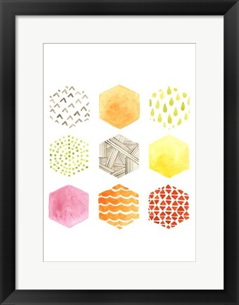 Framed Honeycomb Patterns I Print