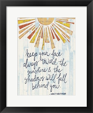 Framed Sunny Day Words II Print
