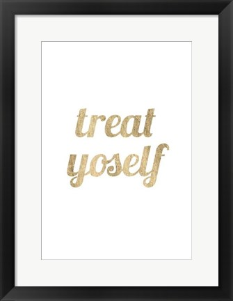 Framed Golden Quote IX Print