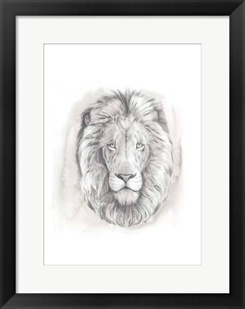 Framed Big Cat Study III Print