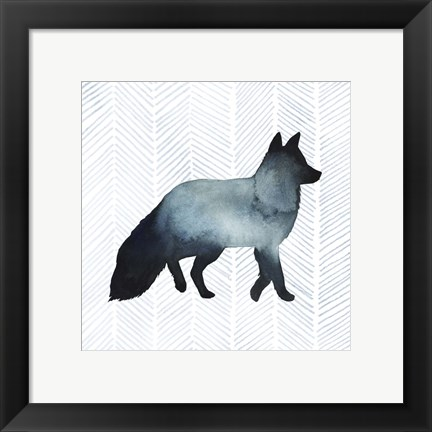 Framed Animal Silhouettes II Print