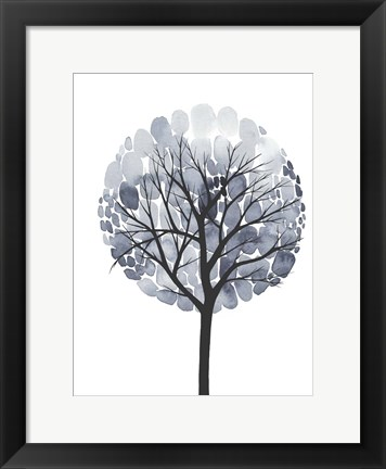 Framed Midnight Elm I Print