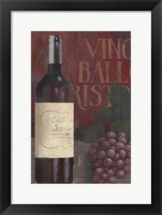 Framed Wine Still Life I Print