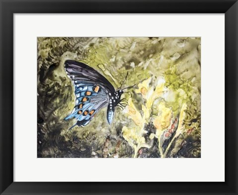 Framed Butterfly in Nature I Print