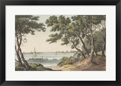 Framed View of the River Print