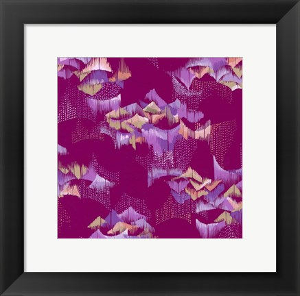 Framed Purple Scales Print