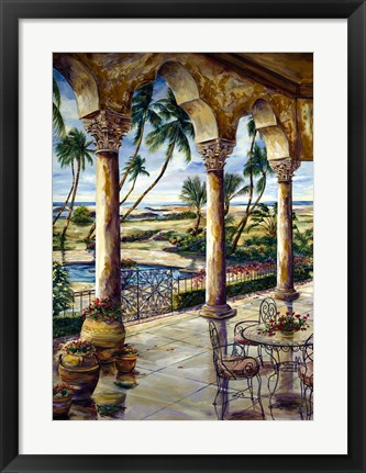 Framed Corinthian Beachfront Print