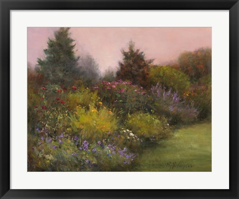 Framed Edge of the Garden Print