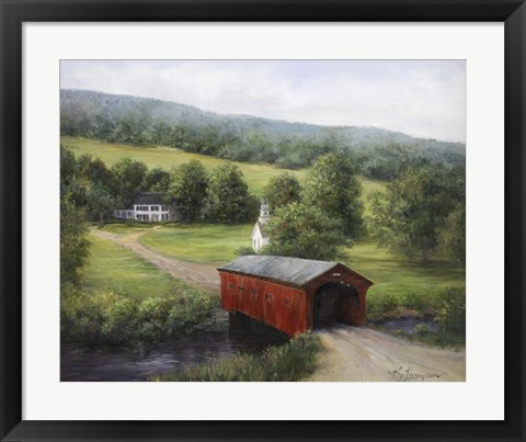 Framed Vermont Covered Bridge Print
