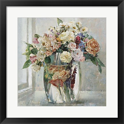 Framed Still Life With a Drown Rose Print