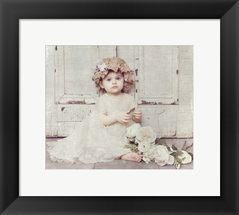 Framed Victorian Baby on Porch Print