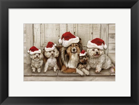 Framed Dogs Christmas Print