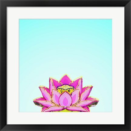 Framed Lotus Print