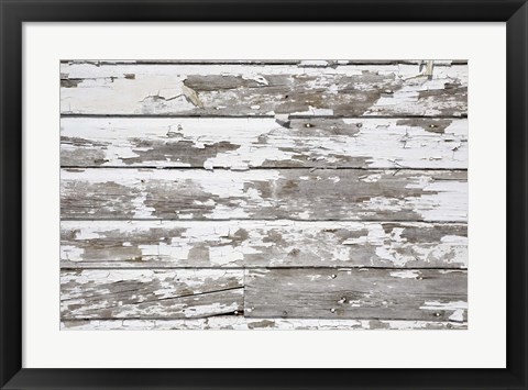 Framed Cracked and White Painted Beams Print