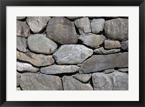 Framed Close up of Grey Toned Smooth Rock Wall Print