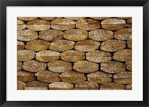 Framed Split Firewood Close Up Print