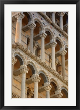 Framed Architecture Shot of Leaning Tower of Pisa Print