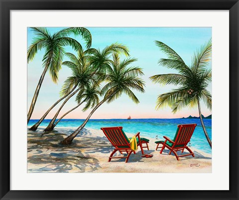 Framed Tropical Vacation Print