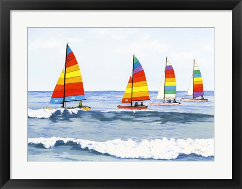 Framed Sail Colors Print