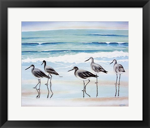 Framed 5 Birds Print