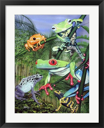 Framed Tree Frogs Print