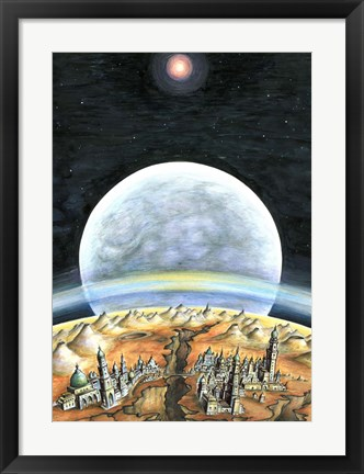 Framed Life On Mars 2299 Print