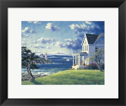 Framed Admirality Lighthouse Print