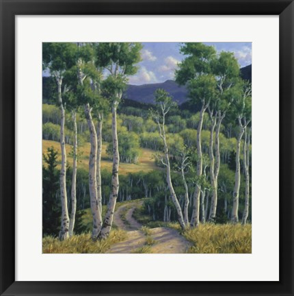 Framed Summer Aspen Print
