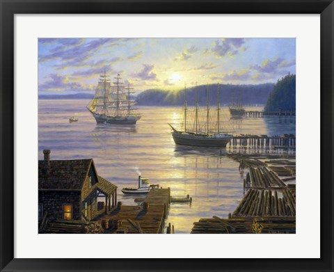 Framed Seattle Lumber Port Print