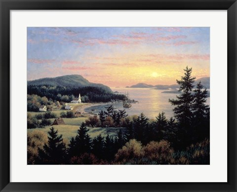Framed Sunset From Village Point Print