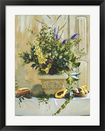 Framed Green Floral Print