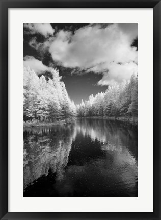 Framed Mirror Of Heaven, Palms Book State Park, Michigan 12 Print