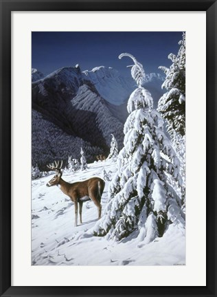 Framed October Snow Print