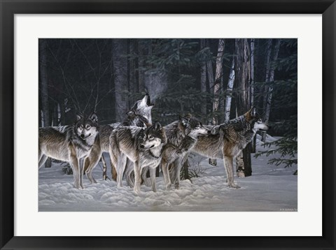 Framed Breaking The Silence- Wolves Print