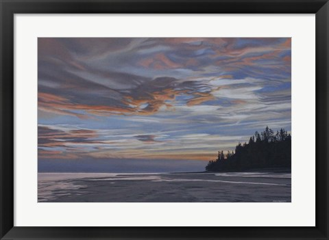 Framed Qualicum Evening Print