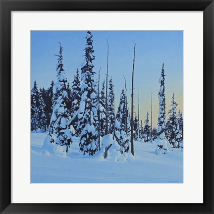 Framed Snowy Forest Print