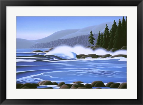 Framed Breakers Print