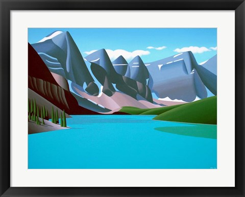 Framed Moraine Lake Print