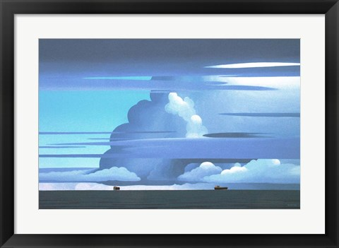 Framed Shipping Lane Print