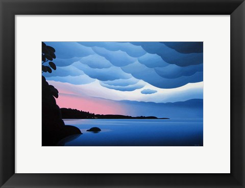 Framed Shore Lights Print