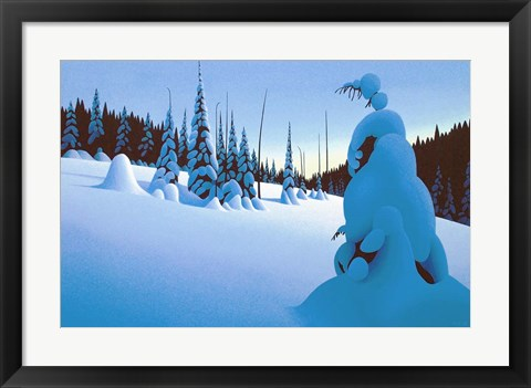 Framed Snowy Dawn Print