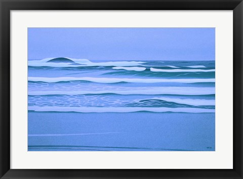 Framed Sombre Shore Print