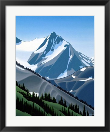 Framed Western Mountain Print