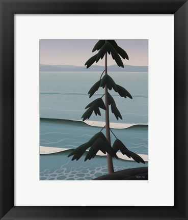 Framed Above The Surf Print