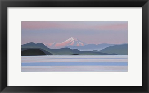 Framed Mount Baker - Evening Print