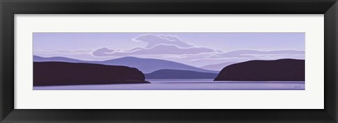 Framed Gulf Island Evening Print