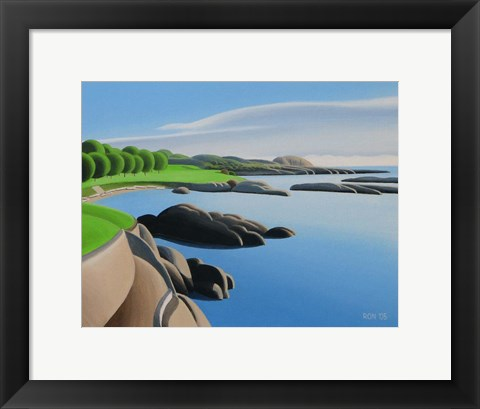 Framed By The Sea Print
